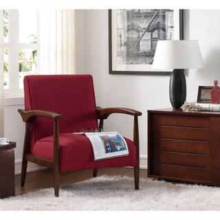 Strick & Bolton Gracie Retro Mid Century Modern Pimento Arm Chair