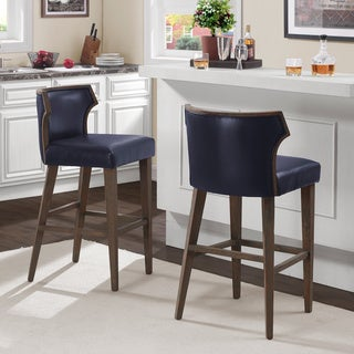Marvin Navy Bonded Bar Stool