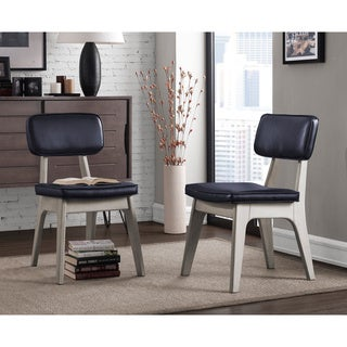 Spectrum Navy Bonded Dining Chair (Set of 2)