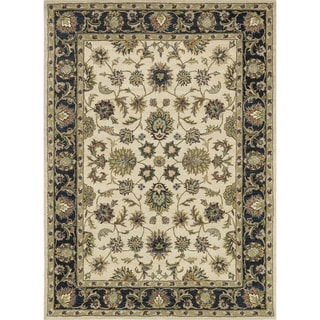 Hand-tufted Mason Beige/ Black Wool Rug (8'0 x 11'0)