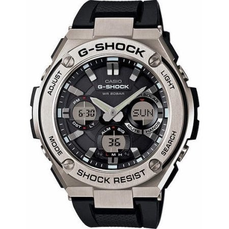 3af2e2a07 Shop Casio G-Shock GSTS110-1A G-Steel Smoke Dial SS Resin Chrono Quartz  Men's Watch - Free Shipping Today - Overstock - 11079884