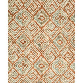 Microfiber Woven Beckett Spice/ Mist Rug (9'3 x 13')|https://ak1.ostkcdn.com/images/products/11079988/P18088045.jpg?impolicy=medium