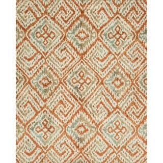 Microfiber Woven Beckett Spice/ Mist Rug (9'3 x 13')