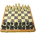 Hand-carved Soapstone 8-inch Chess Set (India)