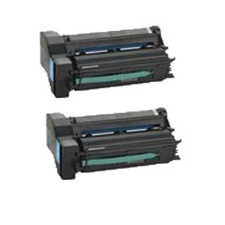 2PK 39V0924 ( 39V0932 39V0936 ) Cyan Compatible Toner Cartridge For IBM InfoPrint Color 1654 1664 ( Pack of 2 )
