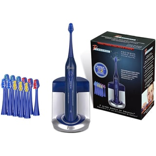 Pursonic S450 Blue Deluxe Sonic Toothbrush with 12 Brush Heads and UV Sanitizer