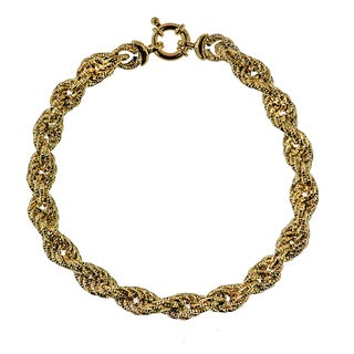 Decadence 14K Gold 7mm Textured Rope Bracelet