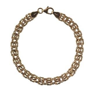Decadence 14K Yellow Gold 7MM Byzantine Bracelet (2 options available)