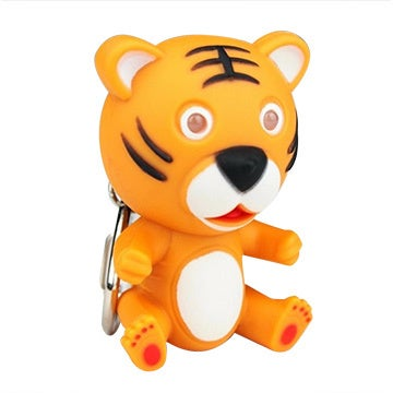 Baby Tiger Keychain with Sounds and Flashlight
