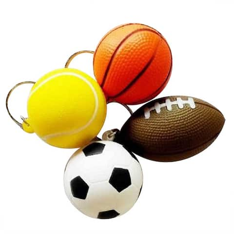 Stress Foam Ball - Sports Ball Keychain