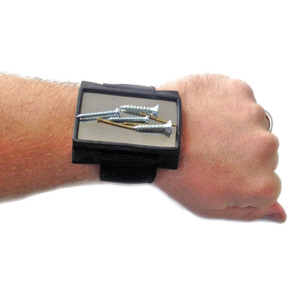 Magnetic Tool Cuff - Wristband, Black, Size .25 inches lo...