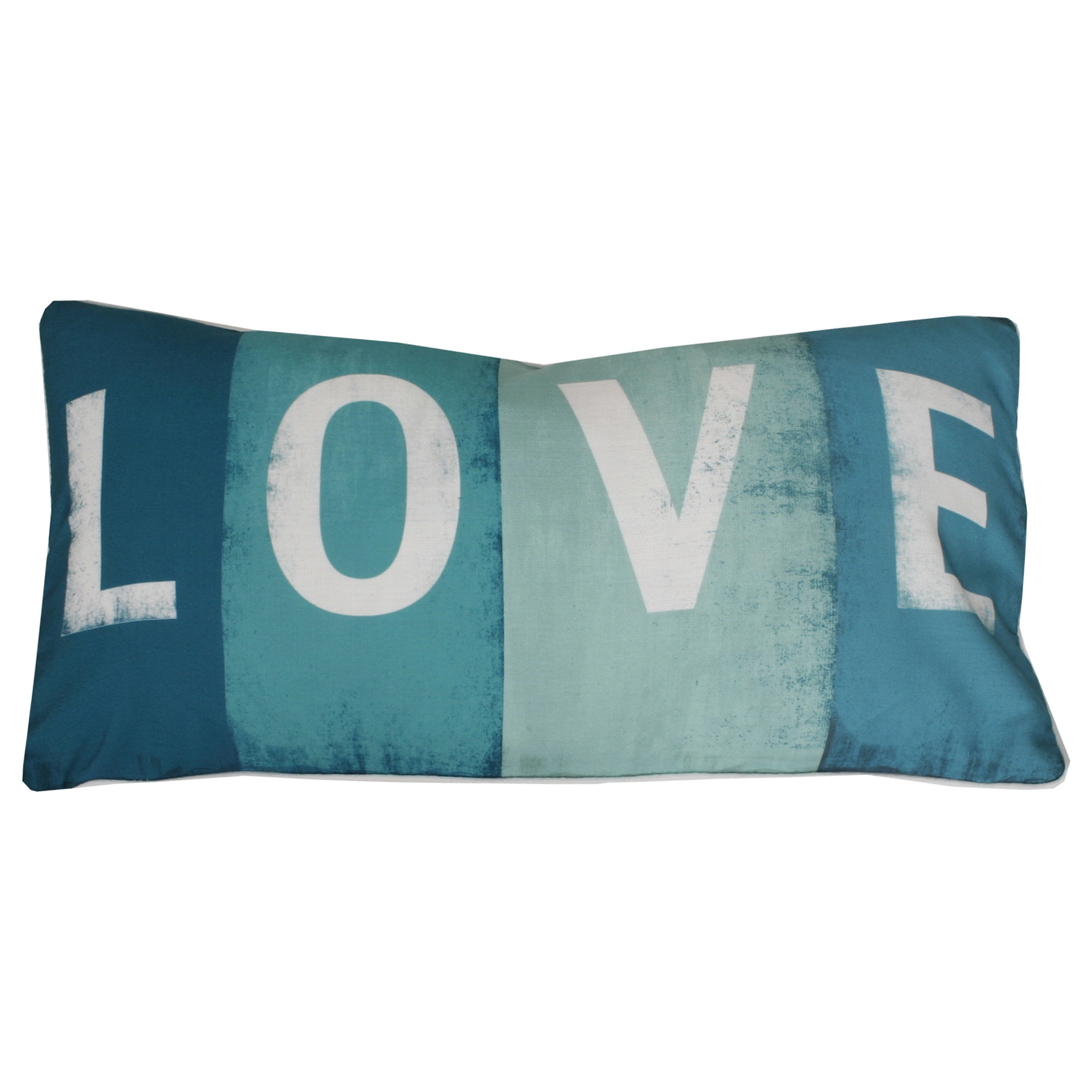 Thro by Marlo Lorenz Love Printed Sign Feather Filled 17x17 Throw ...