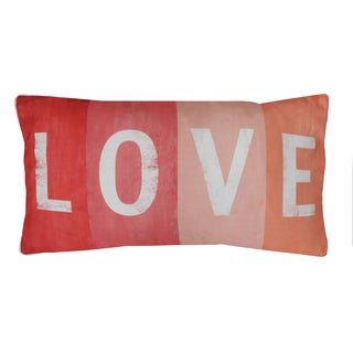 Thro by Marlo Lorenz Love Printed Sign Feather Filled 12x24 Throw Pillow