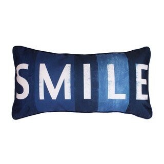 Thro by Marlo Lorenz Smile Printed Sign Feather Filled Throw Pillow