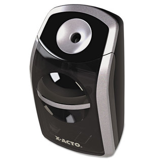 SharpX Portable Battery Operated Black/ Silver Pencil Sharpener