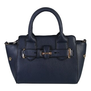 Diophy Faux Leather Small Top-handle Handbag