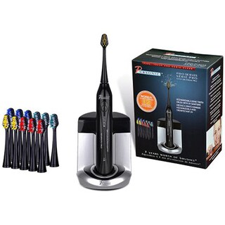 Pursonic S450 Black Deluxe Sonic Toothbrush with 12 Brush Heads and UV Sanitizer
