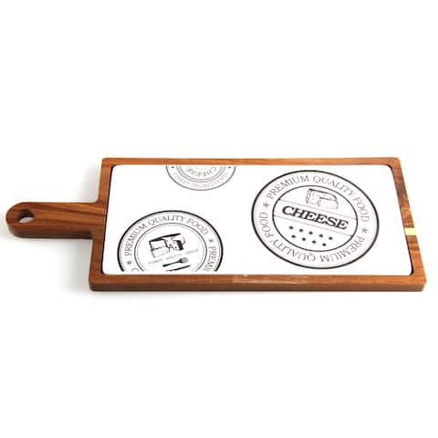 Red Vanilla Paddle Serving Board