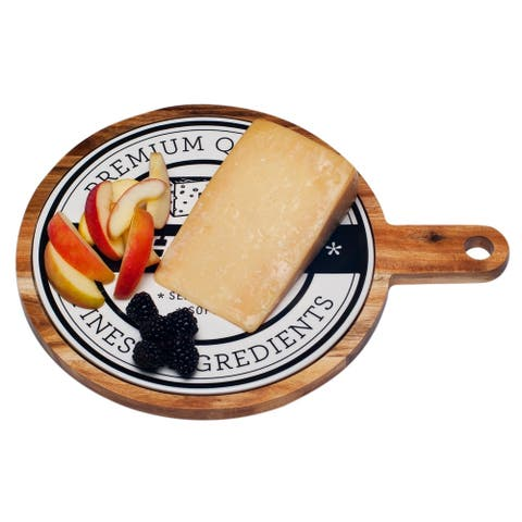 """Red Vanilla Round Paddle Board Serving Tray 10.25"""""""