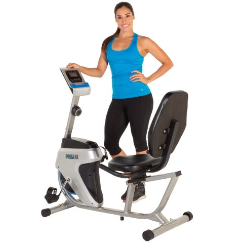 PROGEAR 555LXT Recumbent Bike with Workout Goal Setting Computer