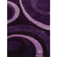 Hand-tufted Purple Shag Area Rug - 7'6 x 10'3