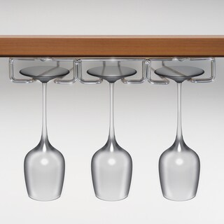 Under Cabinet 3-row Stemware Rack