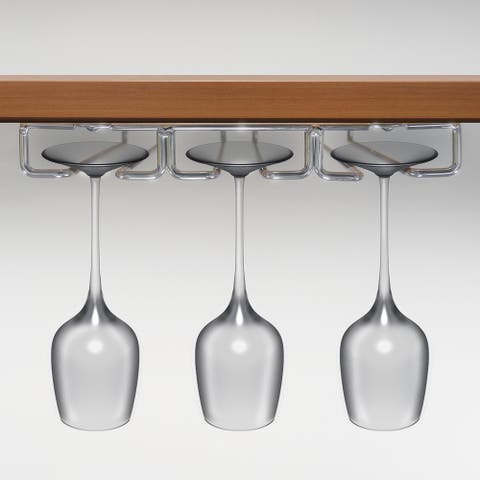 Sorbus Under Cabinet Wine Glass Rack and Stemware Holds 9 Glasses