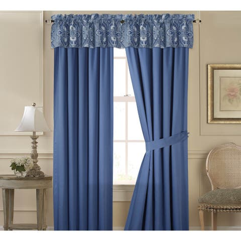 Tribeca Living Atlantis Cotton 6-piece Window Treatment Set