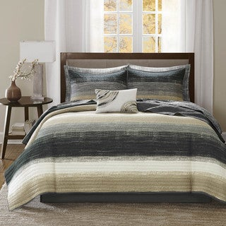 Madison Park Essentials Barret 8-piece Coverlet and Sheet Set