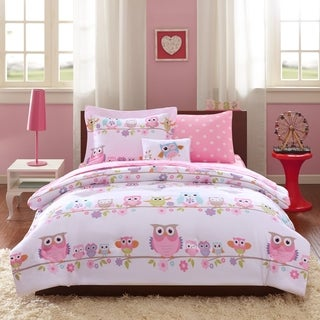 Captivating Mi Zone Kids Nocturnal Nellie Pink Complete Bed And Sheet Set
