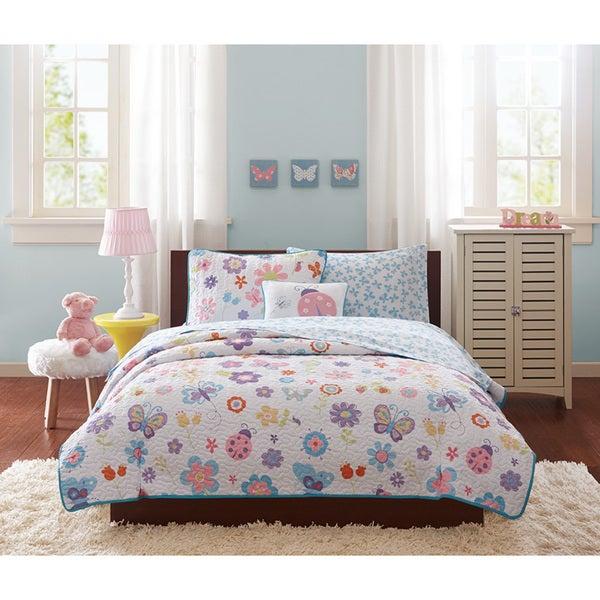Mi Zone Kids Butterfly Bonanza Coverlet with Sheet Set