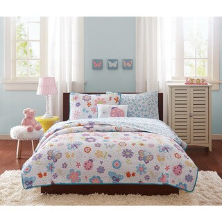 Mi Zone Kids Butterfly Bonanza Coverlet with Sheet Set (2 options available)