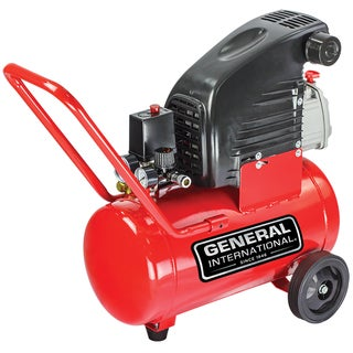 General International 1.5hp 6-gallon Horizontal Air Compressor