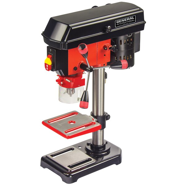 General International 8-inch 5-speed Drill Press (With Patented Cross-pattern Laser System)