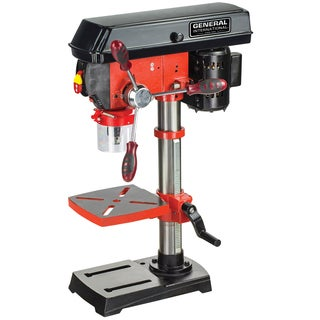 General International 10-inch 5-speed Drill Press (With Patented Cross-pattern Laser System + Led Lighting)