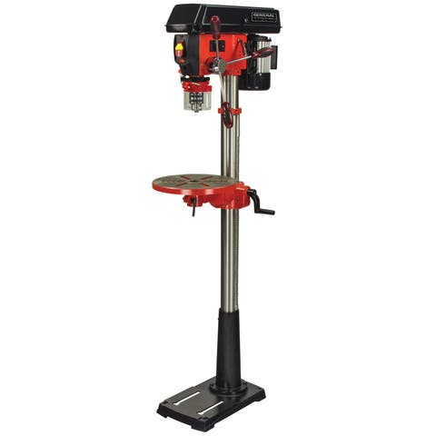 General International 13-inch 16-speed Drill Press (With Patented Cross-pattern Laser System + Led Lighting)