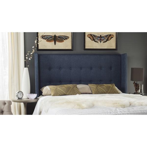 Shop Safavieh Damon Denim Blue Upholstered Tufted Wingback