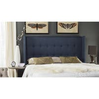 Safavieh Damon Denim Blue Upholstered Tufted Wingback Headboard (King)