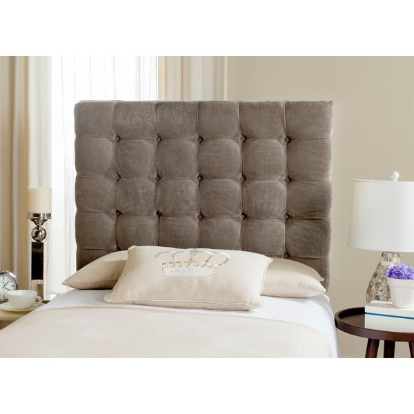 Image Result For Safavieh Lamar Greige Tufted Velvet Headboard