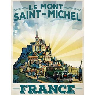Marmont Hill - Le Mont Saint-Michel Painting Print on Canvas
