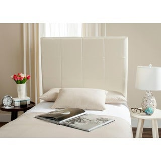 Safavieh Quincy White Leather Box Quilted Upholstered Headboard (Twin)
