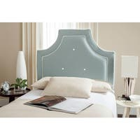 Safavieh Tallulah Sky Blue/ White Piping Upholstered Arched Headboard (Twin)