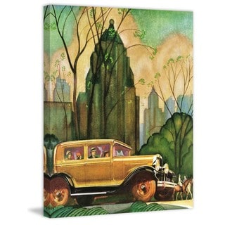 Marmont Hill - In the City Painting Print on Canvas