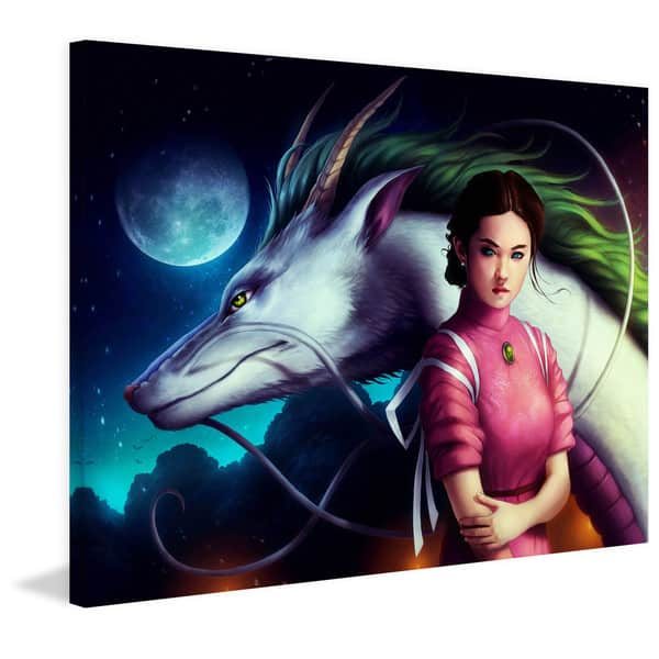 Shop Marmont Hill Handmade Spirited Away Painting Print On Canvas Overstock 11081611 31 X 24