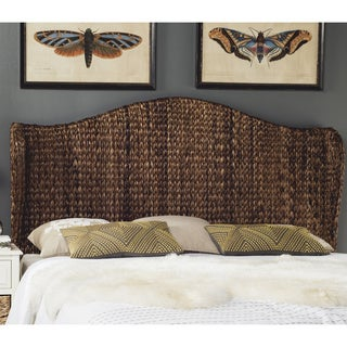 Safavieh Nadine Brown Woven Wingback Headboard (Queen)