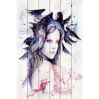 Marmont Hill - I Talk to Birds Painting Print on White Wood