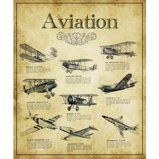 Marmont Hill - Aviation Guide Painting Print on Canvas