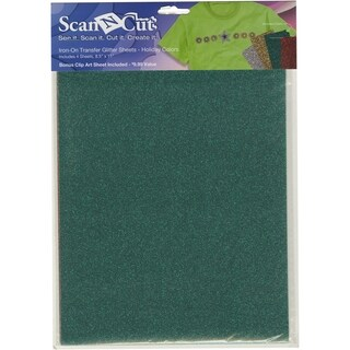 Brother ScanNCut Die Cut Machine Iron-On Glitter Sheets (Holiday Colors)