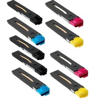 2 Set + 1BK Compatible 6R1525 6R1526 6R1527 6R1528 toner Cartridges For XEROX Color 550 560 570 ( Pack of 9)