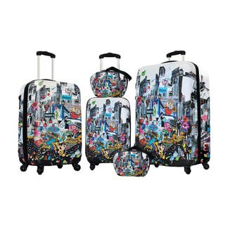 Visionair Jane Elissa City Girl 5-piece Fashion Hardside Spinner Luggage Set|https://ak1.ostkcdn.com/images/products/11083303/P18091000.jpg?impolicy=medium